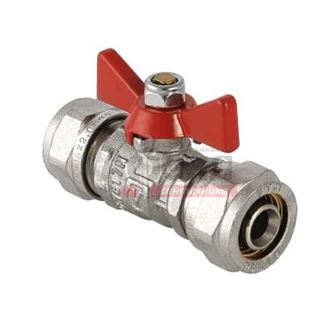 Кран шар. для металлопл. трубы 16х16 ц/ц баб. VALTEC (VT. 343)