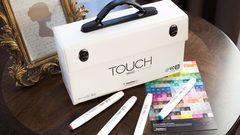 Touch Twin Brush набор маркеров для скетчинга 60 шт в чемодане - двусторонние спиртовые кисть/долото (палитра B)