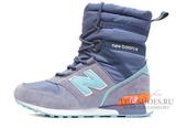 Сапоги Зимние Женские New Balance Light Blue Orange С Мехом