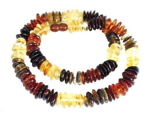 многоцветное ожерелье из янтаря 45 см