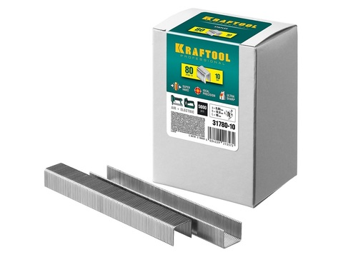 KRAFTOOL 10  мм скобы для степлера тип 80, 5000 шт