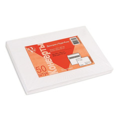 Конверт ForPost C4 90 г/кв.м Куда-Кому белый декстрин с внутренней запечаткой (50 штук в упаковке)