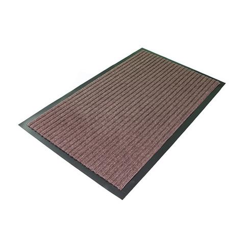 Коврик входной влаговпитывающий ворсовый Т202/2 50х80см коричневый