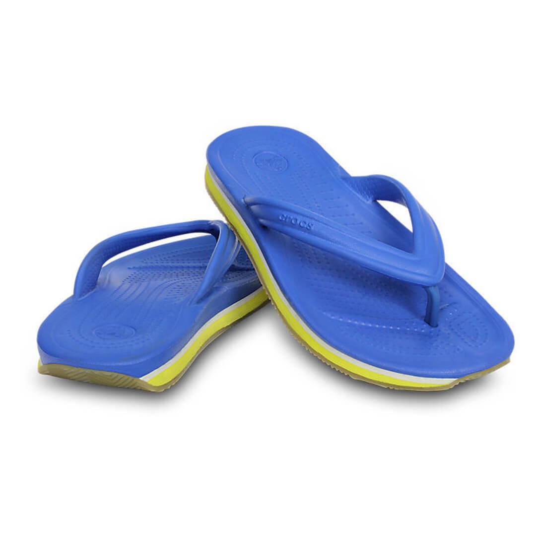 Шлепанцы Детские Crocs Retro Slingback Flat Varsity Blue Burst