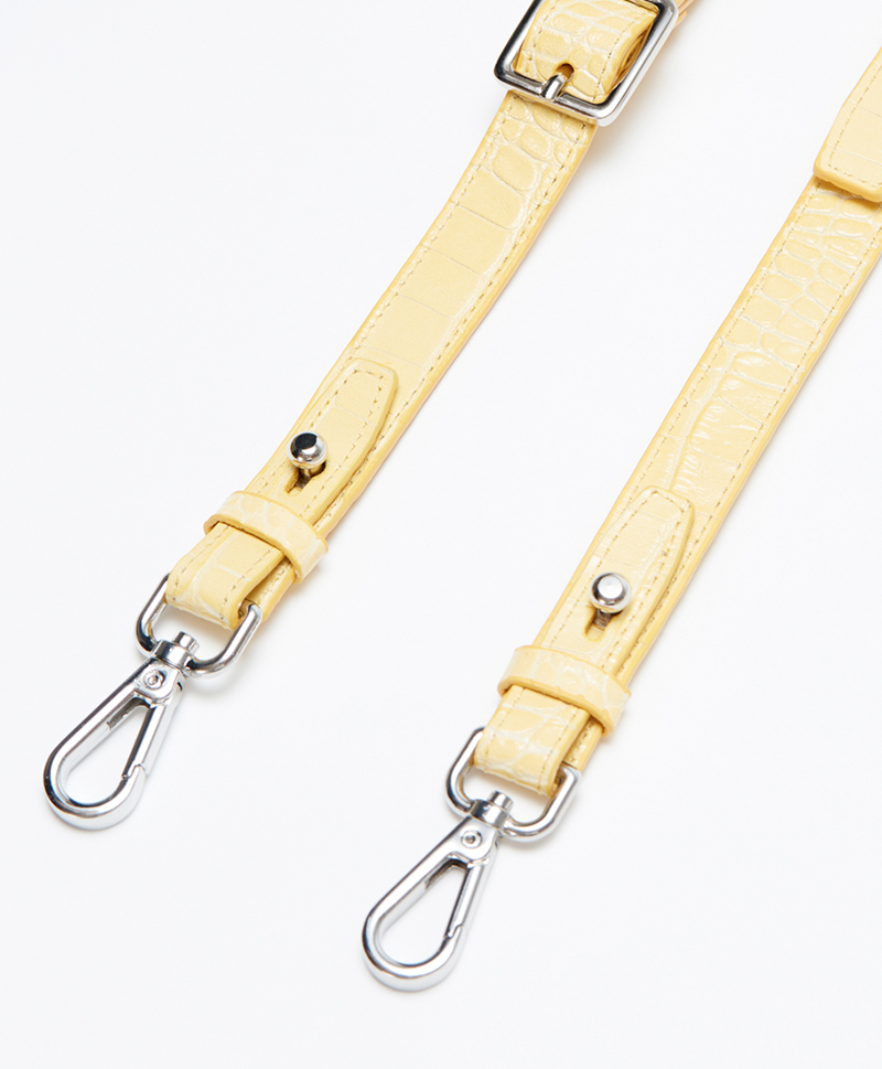 Ремень плечевой на карабинах Vintage Yellow