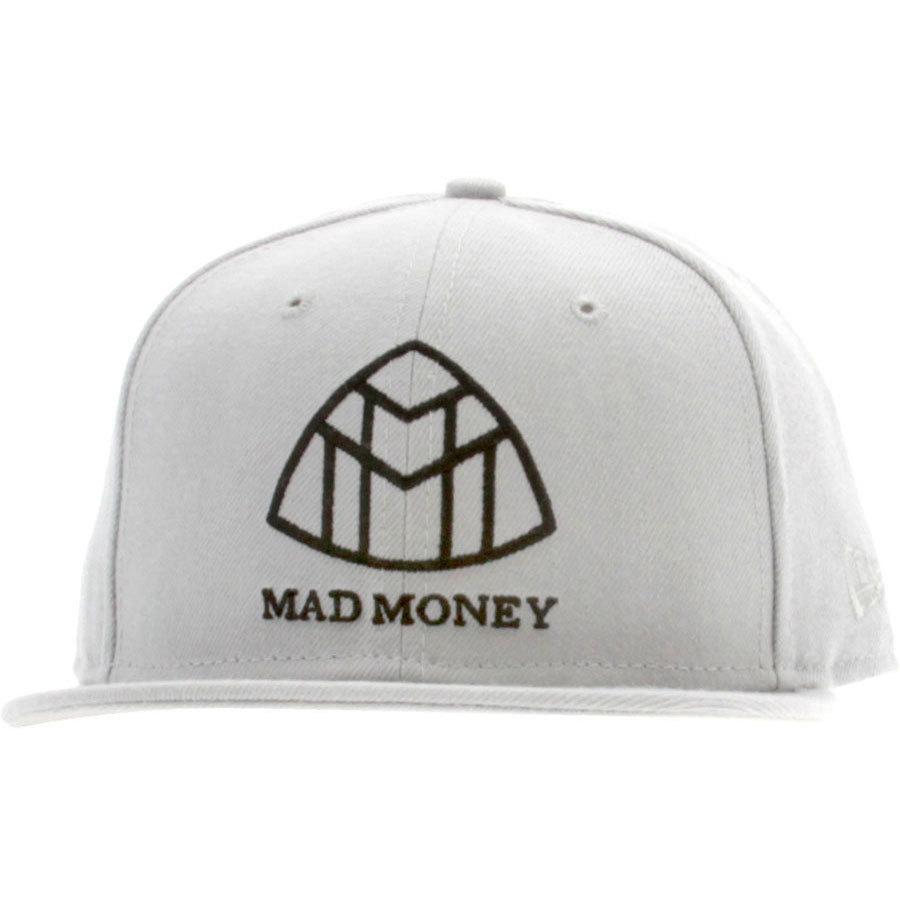 Бейсболка New Era Mad Money серая фото спереди