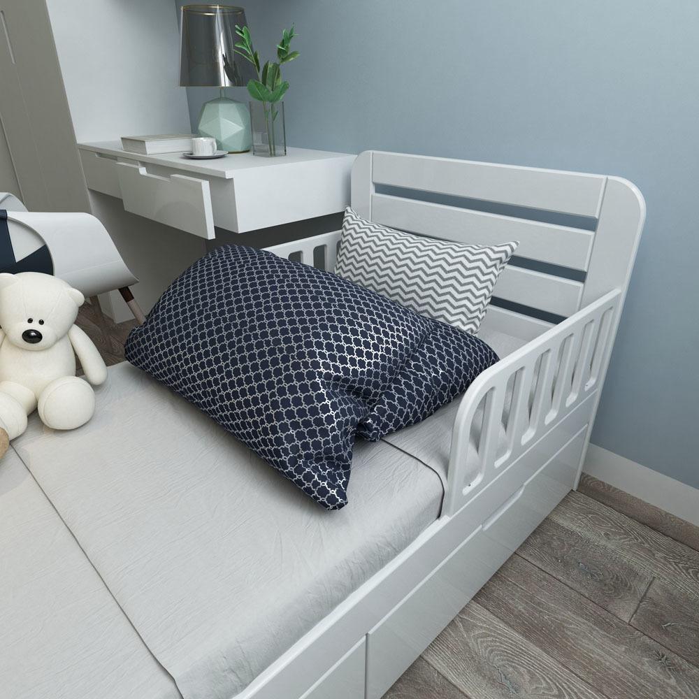 Кровать с ящиками Феалта-baby Охта Белая