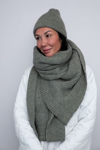 The Flip Flop Шапка HAMON и шарф хакки серый