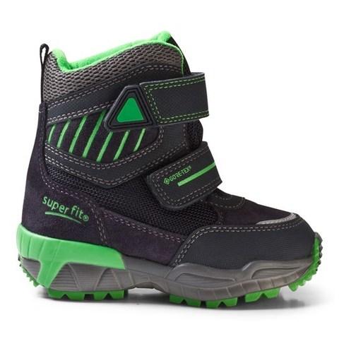 SuperFit зимние сапоги Culusuk для мальчика черно-зеленые