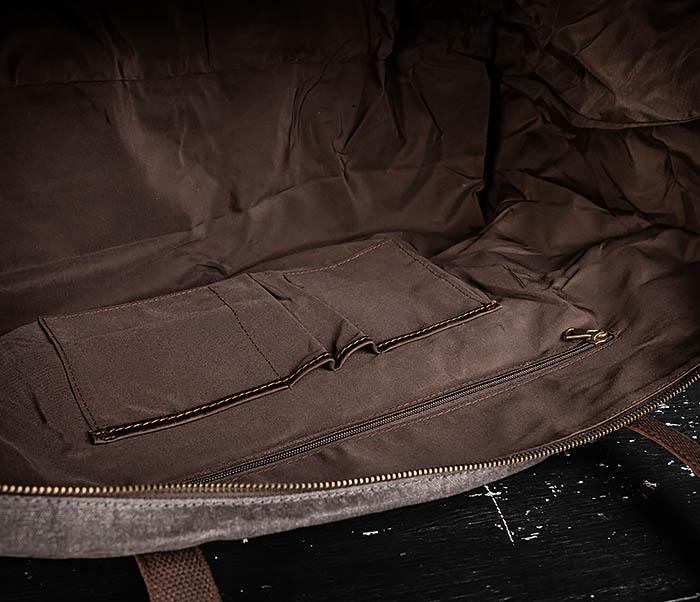 BAG499-1 Мужская дорожная сумка из ткани с ремнем фото 15