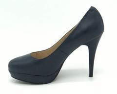 Синие туфли из натуральной кожи
