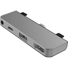 Хаб Hyper HyperDrive 4-in-1 USB-C Hub серебристый