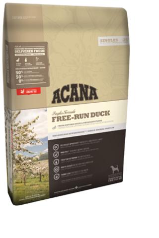 Acana Free-run duck с уткой и грушей для собак и щенков всех пород