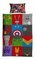 Марвел Супергерои Логотип постельное белье детское