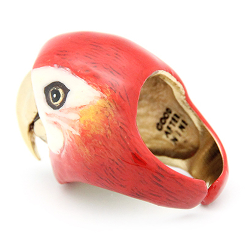 Кольцо Попугай Скарлет