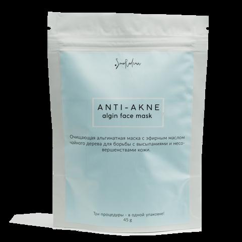 Альгинатная маска против воспалений с маслом чайного дерева ANTI-ACNE, SmoRodina