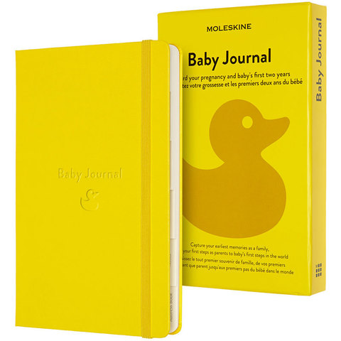 Блокнот Moleskine PASSION BABY PASBABY Large 130х210мм 400стр. подарочная коробка, желтый