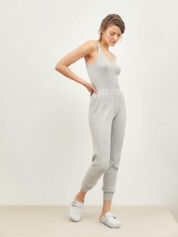 Женские брюки серого цвета из вискозы - фото 2