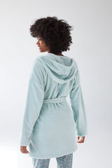 Зеленый телый халат