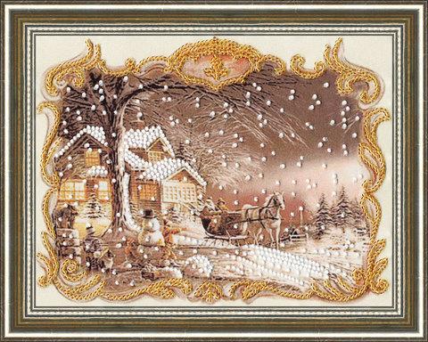 Набор для вышивания бисером.¶ Дизайнер: Есенова Индира;¶ Размер: 20×15,5 см;¶ Материал: Ткань с рису