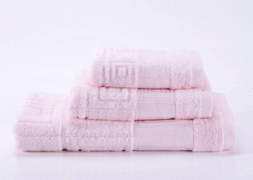 Полотенца Miranda-2 светло-розовое махровое  полотенце Valtery miranda-2-.jpg