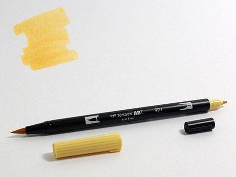 Маркер-кисть Tombow ABT Dual Brush Pen-991, светлая охра