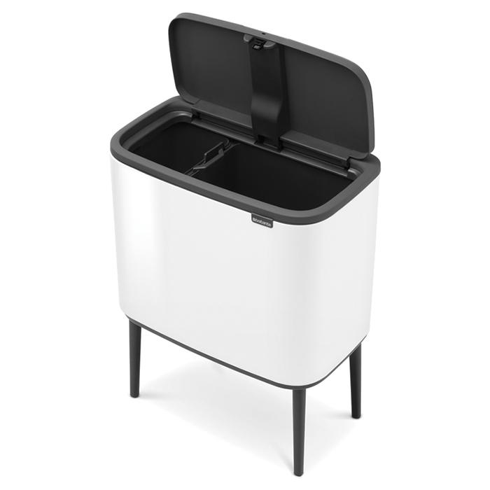 Мусорный бак Touch Bin Bo (11 л + 23 л), Белый, арт. 313547 - фото 1