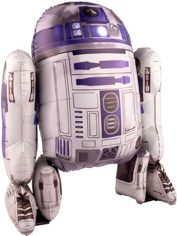 Шар (44''/112 см) Ходячая Фигура, Звездные войны R2D2, в упаковке 1 шт.