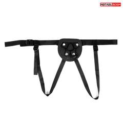 Трусики на ремешках для страпона (D колец 40 мм х 30 мм) черный