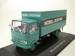 Mercedes LP 608 Box-Trailer Mobel Boehme 1972 mint green Atlas 1:43