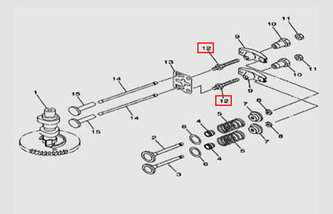 Шпилька крепления клапана для лодочного мотора F5 Sea-PRO(5-12)