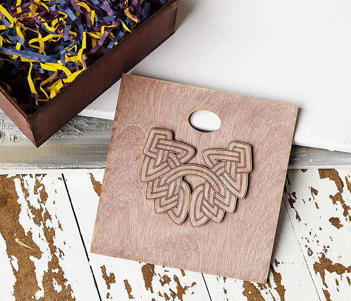 BOX218-3 Коробка для подарков из дерева с логотипом «Борода» (17*17*7 см) фото 06
