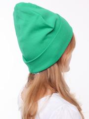 Зеленая хлопковая шапочка бини