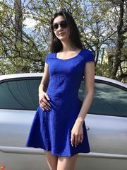 Фіона. Легке літнє молодіжне плаття. Електрик