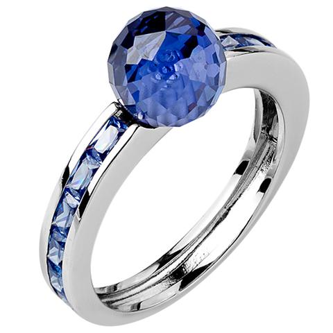 Кольцо из серебра с танзанитом Арт.Ш1084танз