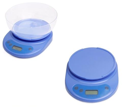 Весы электронные кухонные 20,2*20*10см (зелёный, белый, синий)