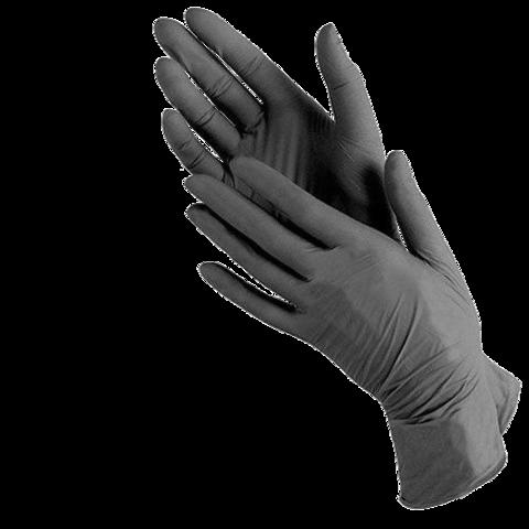 Нитриловые перчатки черные, 1уп*100шт/50 пар