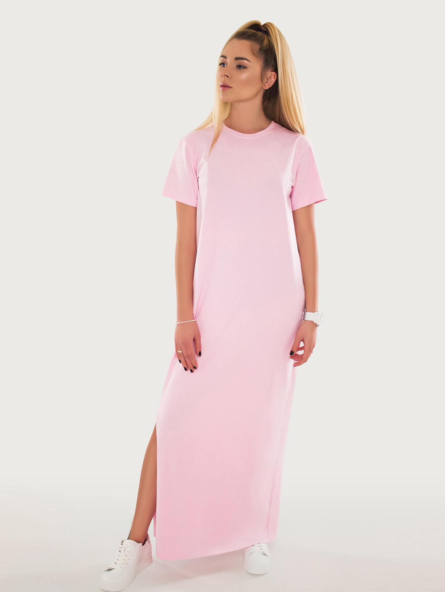 Платье хлопковое розовое