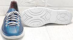 Модные спортивные туфли кроссовки на белой подошве женские летние кэжуал стайл Wollen P029-2096-24 Blue White.