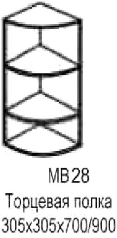 полка торцевая МВ-28