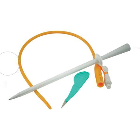 Комплект для надлобкового дренирования мочевого пузыря