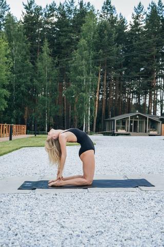 Каучуковый йога коврик YC Black c разметкой 185*68*4,5 см
