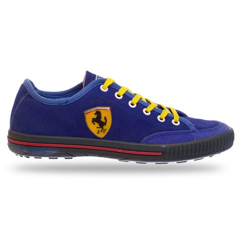 Кеды Ferrari синий-лимонный