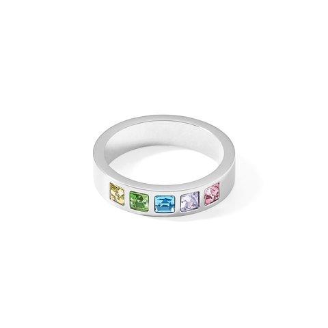Кольцо Multi-Pastel-Silver 18,4 0130/40-1580 58