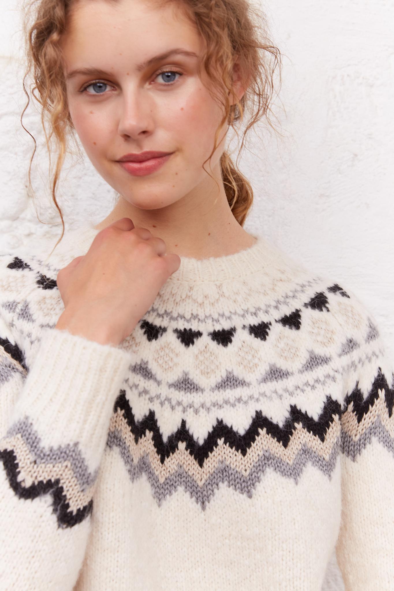 LILA - Жаккардовый свитер прямого кроя