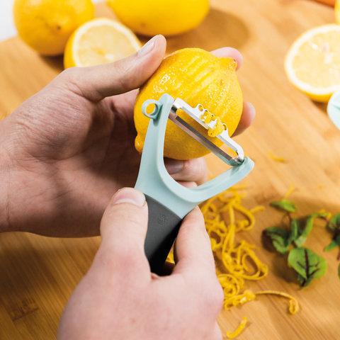 Горизонтальный пилер для чистки овощей (с инструментом для цедры) Leo