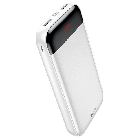 Аккумулятор Baseus Mini Cu digital display power bank 20000 mAh White