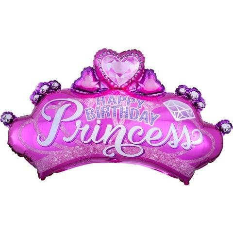 Воздушный шар фигура Диадема для принцессы, 74 см