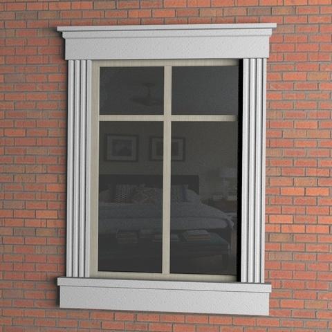 Окно с пилястрой из пенопласта