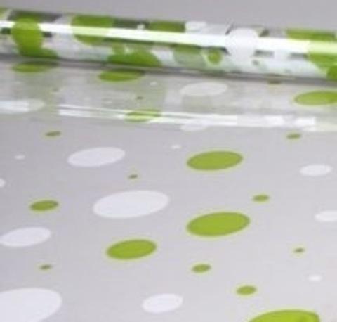Пленка цветная Серпантин (размер:70см х 7м) Цвет:бело-салатовый